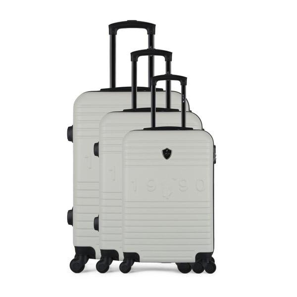 Sada 3 béžových cestovních kufrů na kolečkách GENTLEMAN FARMER 1990 Valises