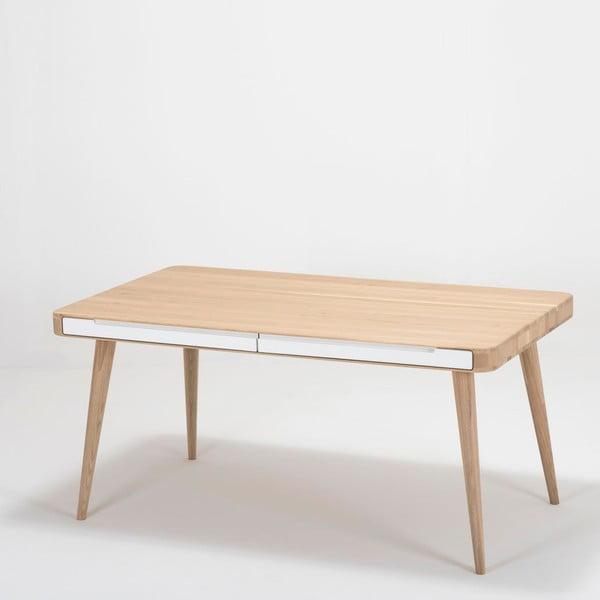 Ena Two tölgyfa étkezőasztal, 140 x 90 x 75 cm - Gazzda