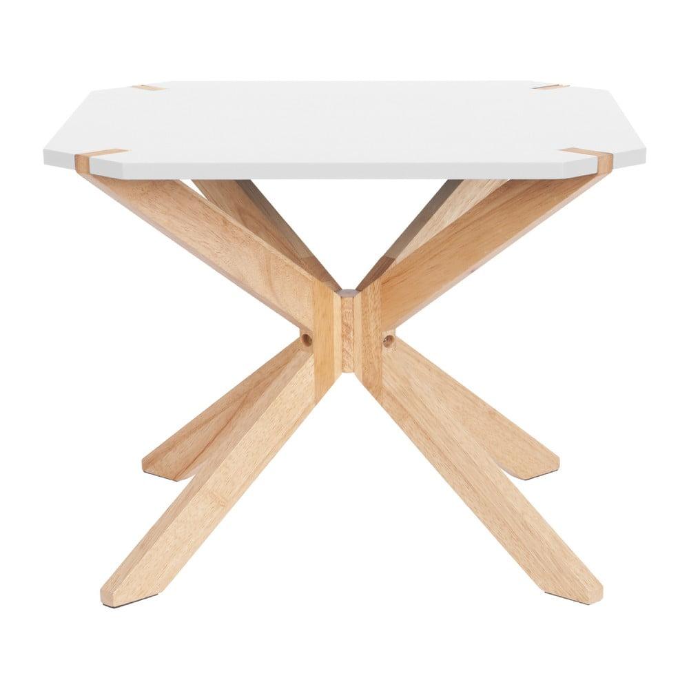 Bílý konferenční stolek Leitmotiv Mister, 65 x 65 cm