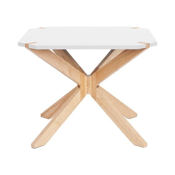 Mister fehér dohányzóasztal, 65x65cm - Leitmotiv