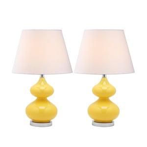 Sada 2 stolních lamp se žlutou základnou Safavieh Gabriel