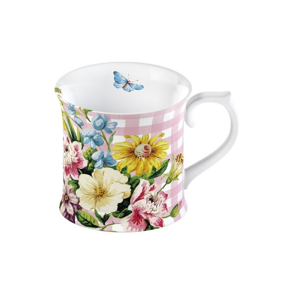Kubek porcelanowy w kwiaty Creative Tops English Garden, 350 ml