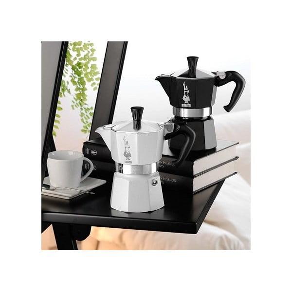 Černý espresso kávovar Bialetti Moka, na 6 šálků