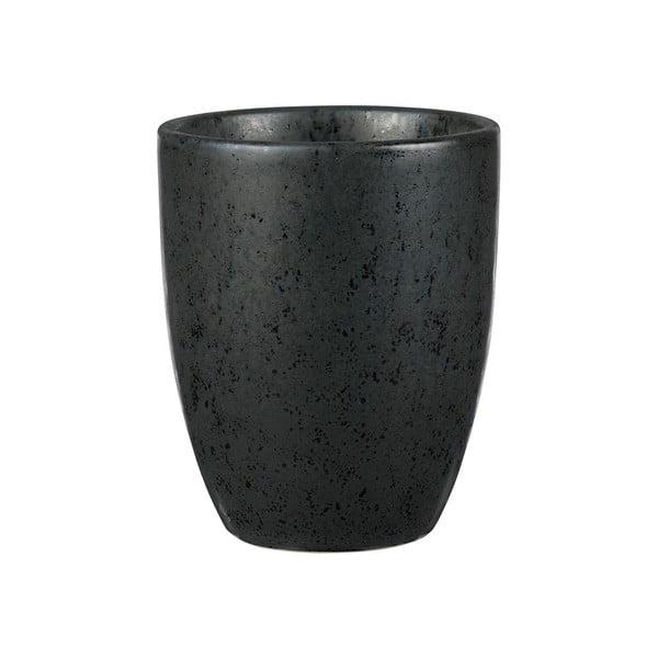 Basics Black fekete agyagkerámia bögre, 300 ml - Bitz