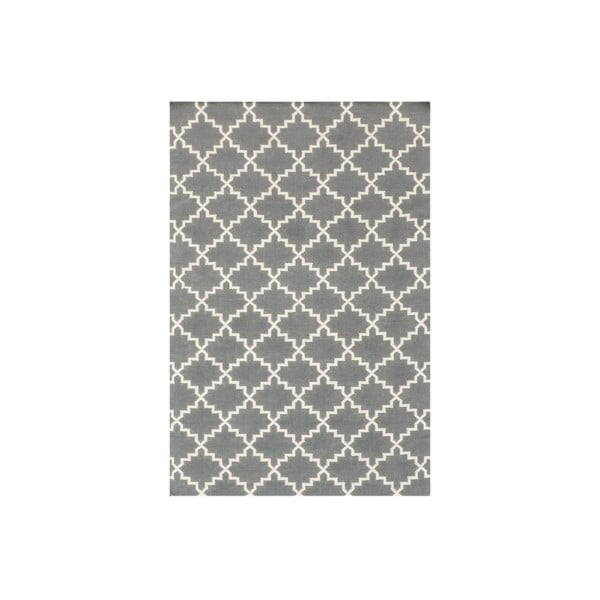 Vlněný koberec Eugenie Grey, 240x155 cm