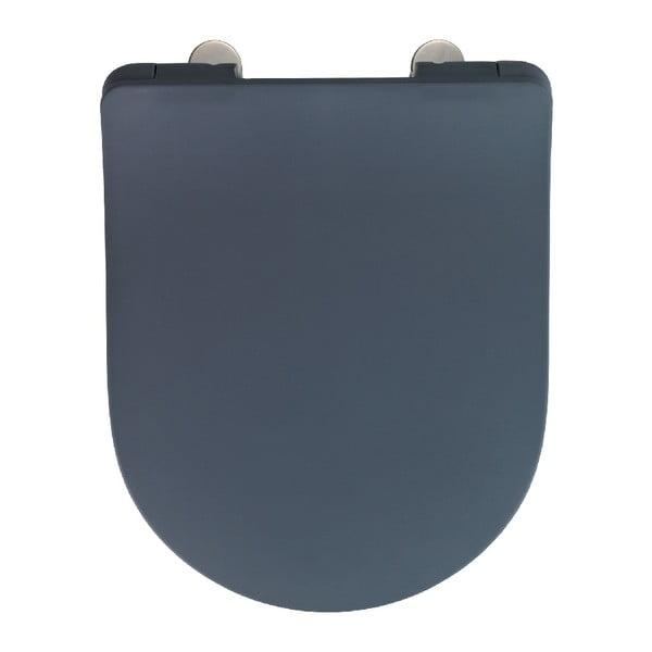 Šedé WC sedátko Wenko Sedilo Grey, 45,2 x 36,2 cm