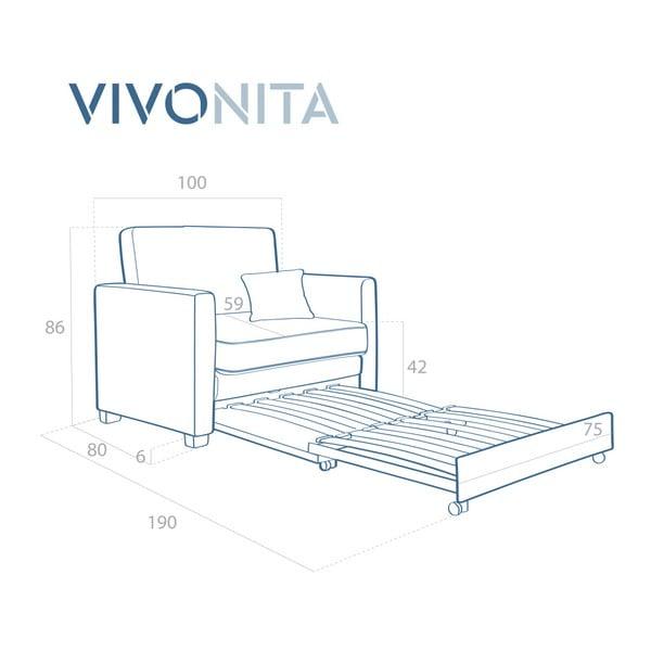 Béžové rozkládací křeslo Vivonita Brent