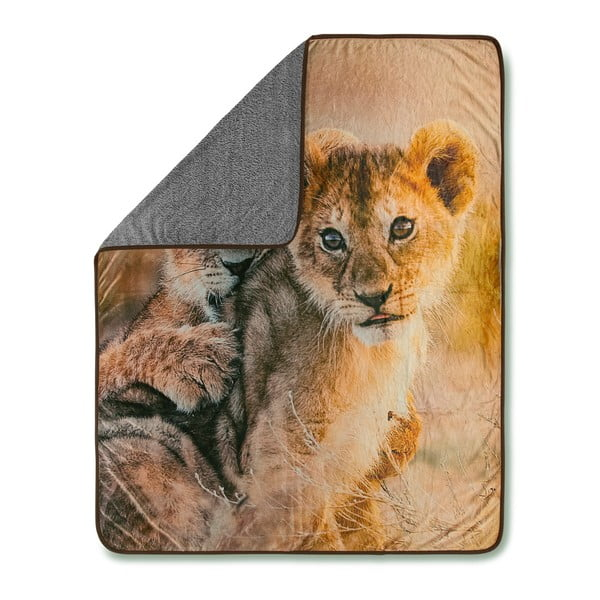 Prikrývka Muller Textiels Baby Lion Sand, 130×160 cm