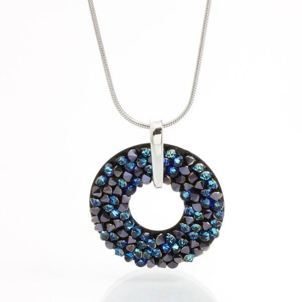 Náhrdelník Laura Bruni se Swarovski Elements Round Blue, 30 mm