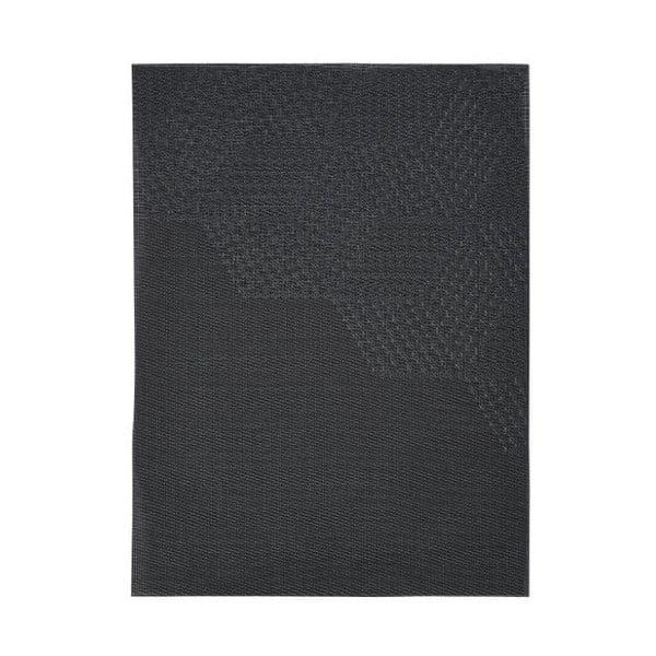 Hexagon fekete tányéralátét, 30x40 cm - Zone