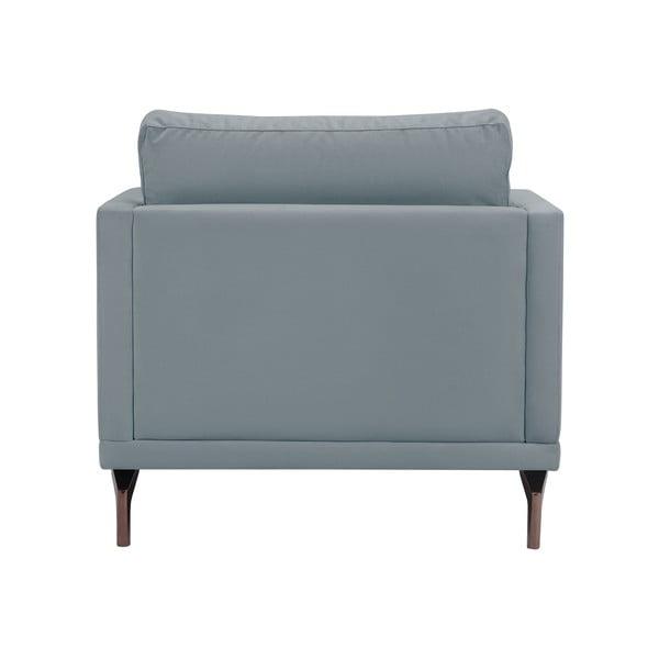 Šedé křeslo s podnožím ve zlaté barvě Windsor & Co Sofas Jupiter