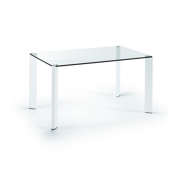 Jídelní stůl Corner, 140x90cm, bílé nohy