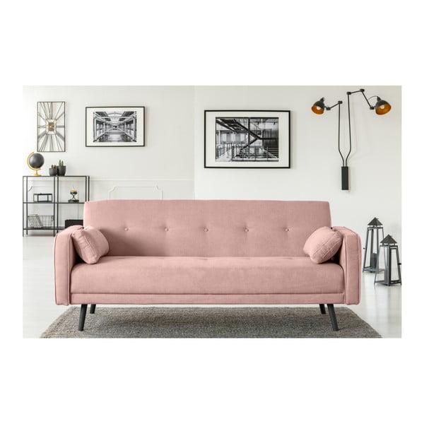 Růžová třímístná rozkládací pohovka Cosmopolitan Design Bristol
