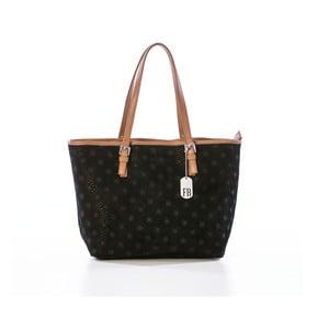 Černá kabelka z pravé kůže Federica Bassi Puro II