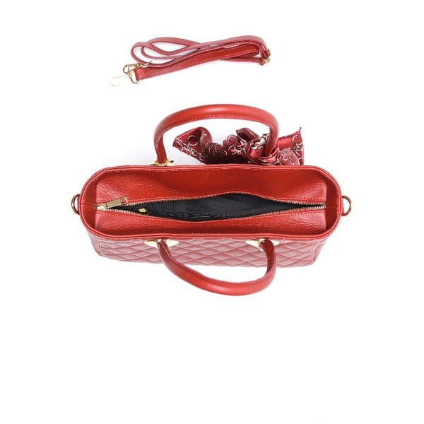Kožená kabelka Carla Ferreri 2003 Rosso