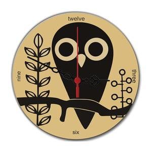 Nástěnné hodiny Owl, 30 cm