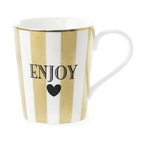 Keramický hrnek Miss Étoile Coffee Enojy Stripe Gold