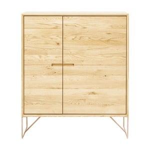 Comodă din lemn de stejar Kare Design Modern Line
