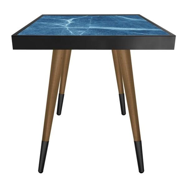 Príručný stolík Caresso Blue Marble Square, 45 × 45 cm