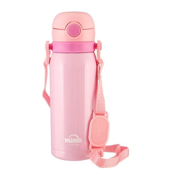 Jasnoróżowa butelka termiczna Premier Housewares Mimo Kids,450ml