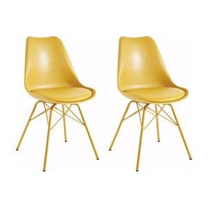 Sada 2 žlutých jídelních židlí Støraa Lucinda