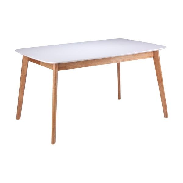 Biely jedálenský stôl s podnožím z kaučukovníkového dreva sømcasa Enma, dĺžka 120 cm