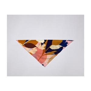 Barevný šátek Velvet Atelier Flowers, 55 x 55 cm
