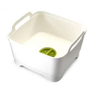 Mycí nádoba s odtokovým uzávěrem Wash&Drain, bílá