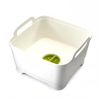 Lighean de spălat vase, cu scurgere Joseph Joseph Wash&Drain, alb de la Joseph Joseph