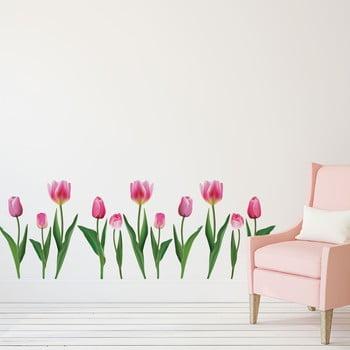 Set autocolante pentru perete Ambiance Pink Tulips de la Ambiance