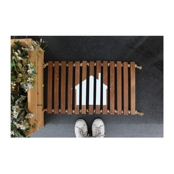Preș/suport din lemn Doormat Woodie, 64 x 40 cm imagine