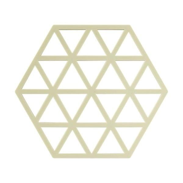 Triangles sárgászöld szilikon edényalátét - Zone