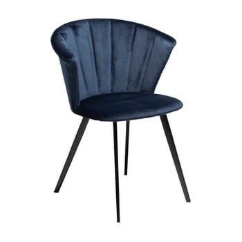 Fotoliu DAN–FORM Denmark Merge Velvet, albastru închis