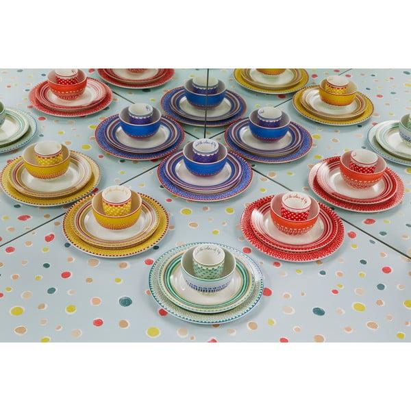 Sada 4 porcelánových šálků s puntíky Oilily 200 ml, červená
