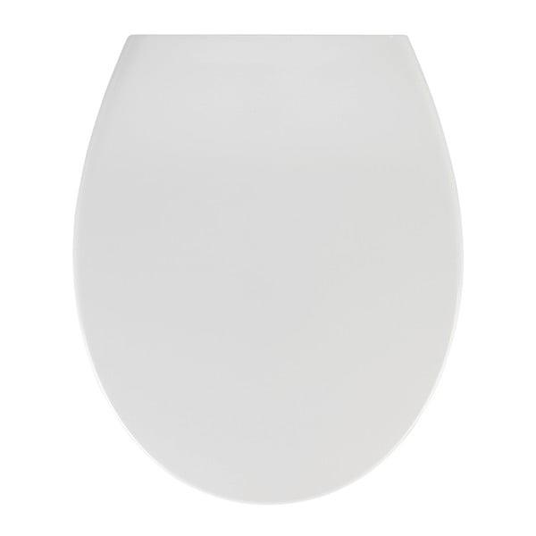 Bílé WC sedátko se snadným zavíráním Wenko Samos, 44,5 x 37,5 cm