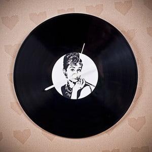 Vinylové hodiny Audrey Hepburn