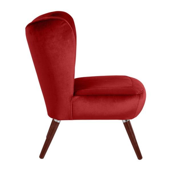 Cihlově červené křeslo Max Winzer Sari Velvet