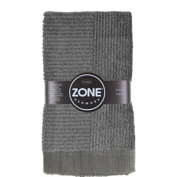 Šedý ručník Zone,70x50cm