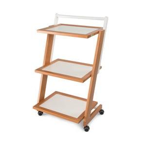 Pojízdný servírovací stolek z bukového dřeva Arredamenti Italia Zordan