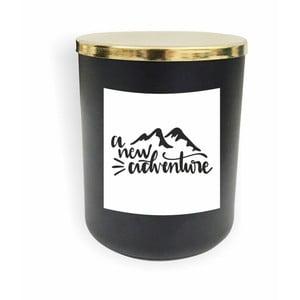 Černá svíčka North Carolina Scandinavian Home Decors Motto Glass Candle V5