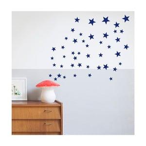 Tmavě modré nástěnné samolepky Art For Kids Stars