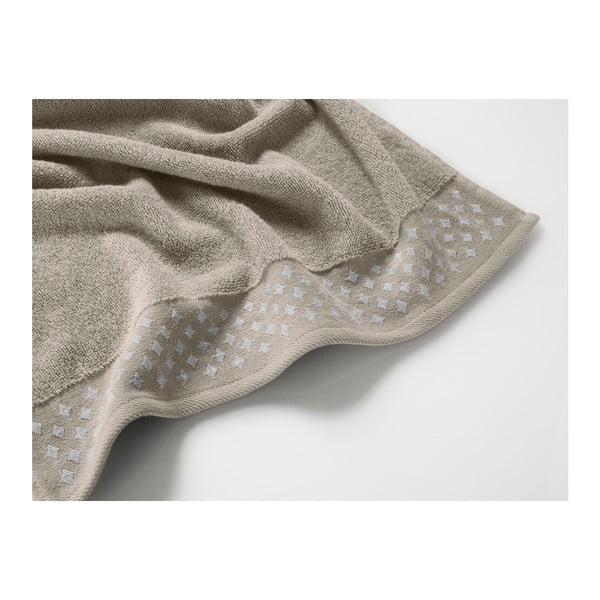 Světle hnědý bavlněný ručník Maison Carezza Lazio, 50 x 90 cm