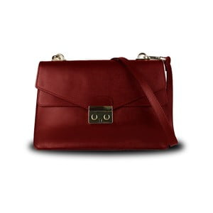 Červená kabelka z pravé kůže JOHN FISH Due