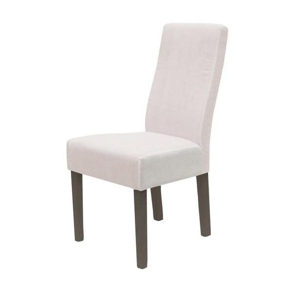 Bílá jídelní židle se šedými nohami Canett Titus