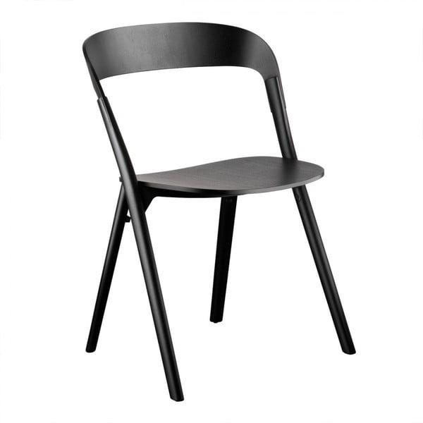 Czarne krzesło z drewna jesionu Magis Pila