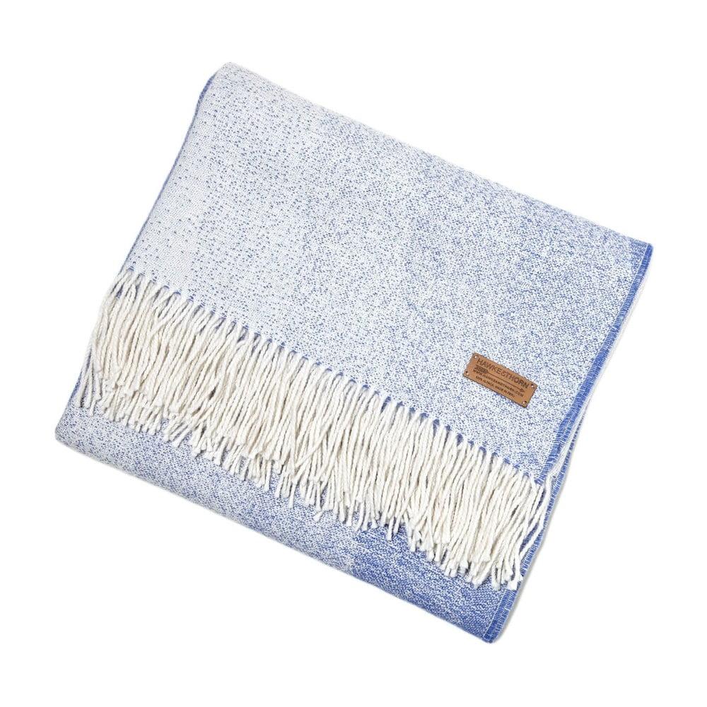 Modrá deka z alpaky Hawke&Thorn Bradshaw Drift