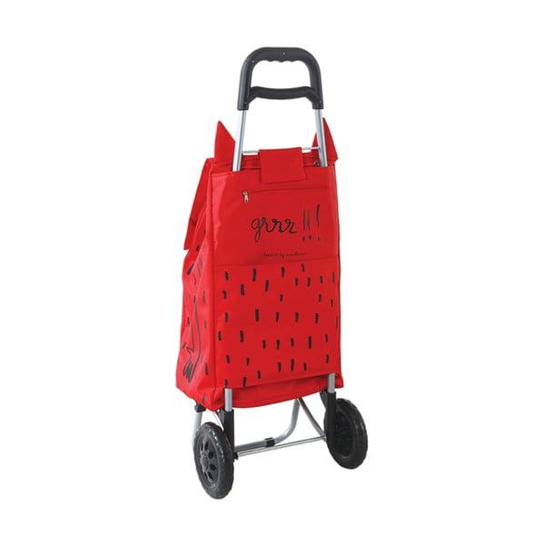 Nákupní taška na kolečkách Monster Red