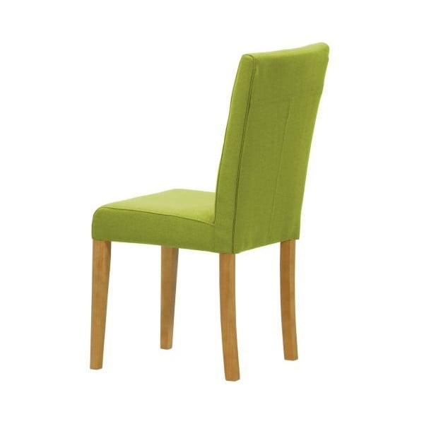 Sada 2 židlí Monako Etna Green, přírodní nohy