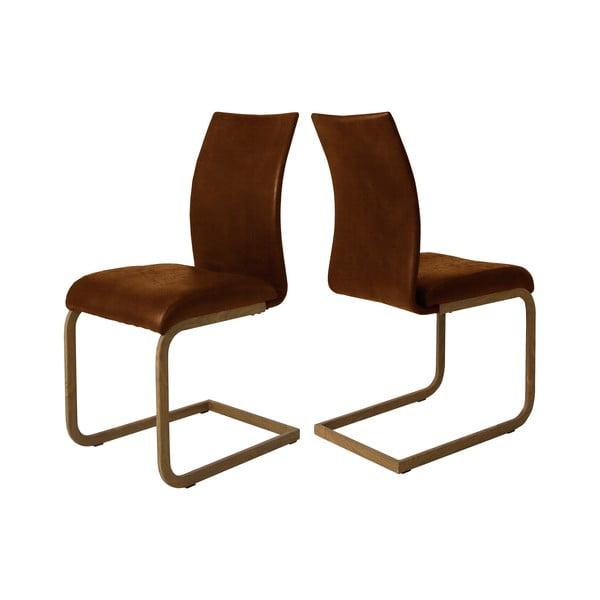 Rezavě hnědá jídelní židle Canett Clipper Rose