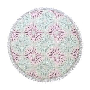 Prosop de baie rotund Pink Sun, ⌀ 155 cm